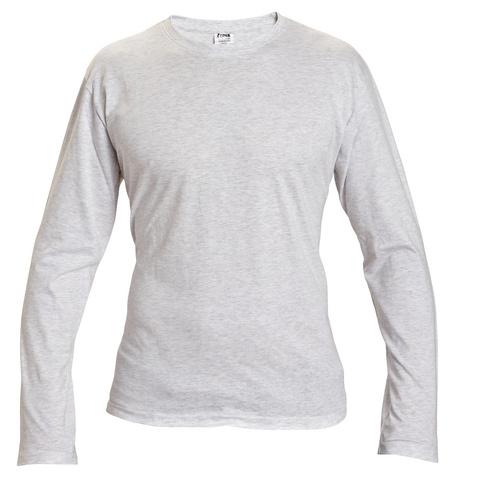 580fa3e8ef9 Bavlněné tričko s dlouhým rukávem šedé objednejte za skvělé ceny